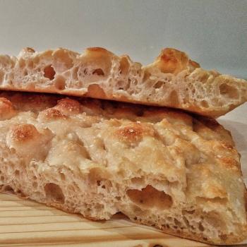 Ambarabà Focaccia first slice