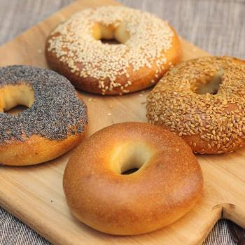 Autumn Brioche, challah bun, bagels, stout sourdough first slice