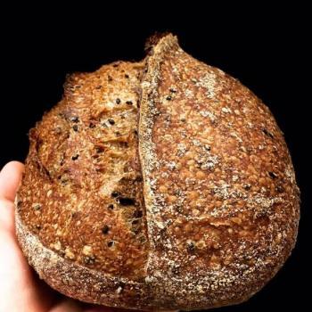 Autumn Brioche, challah bun, bagels, stout sourdough second slice