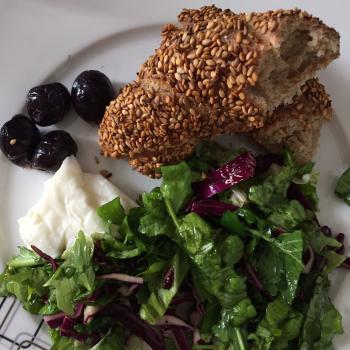 "Baron Turkish Sourdough ""Simit"" (Sesame Bread Ring) first slice"