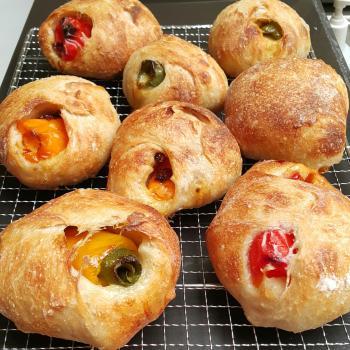 Bella Sweet Pepper and cheese Ciabatta, KamutSpeltRyeQuinoa, Pancake, Kugelhopf first overview