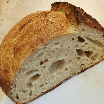 Charles  Tartine Style Country Sourdough  first slice