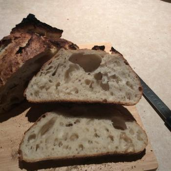Connie Sourdough bread first slice