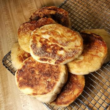 Esther Crumpets, English muffins, pizza first overview