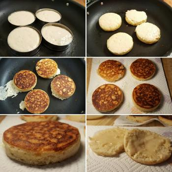 Esther Crumpets, English muffins, pizza second overview