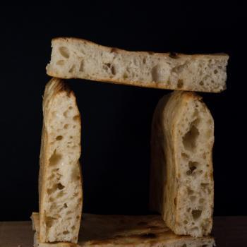 Jesus Focaccia first slice