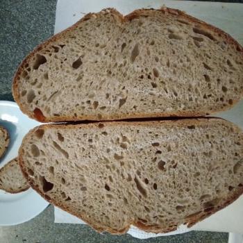 LaRoux White Sourdough Batard second slice