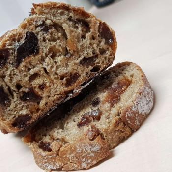 Mang Collar's Sourdough Speija Bread (Fruit Bread) first slice