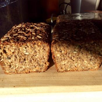 Murdo Danish style seeded rye bread first slice