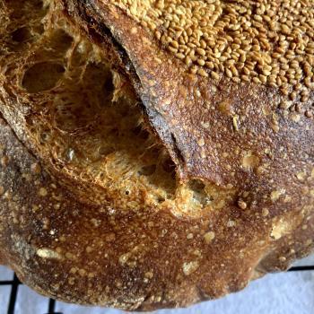 Mz. Bubblez sourdough bread second slice