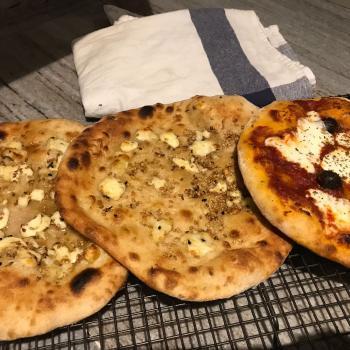 Nancy Arabic bread pizza second overview
