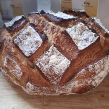 NDG basic sourdough bread first slice
