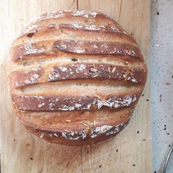 NDG basic sourdough bread second slice