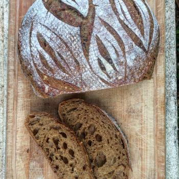 Nicoletta Sourdough Bread first slice