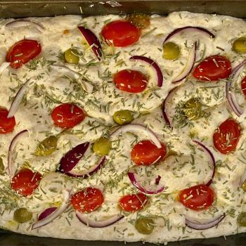 Of course I still love you Focaccia first slice
