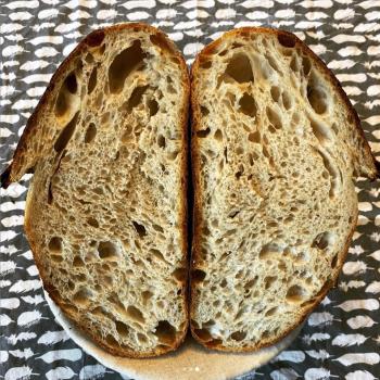 Of course I still love you Manitoba / Spelt Flour Bread first slice