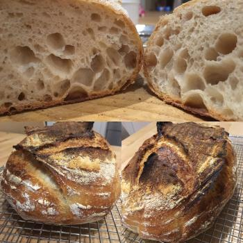PeterPan Sourdough pancakes  first slice