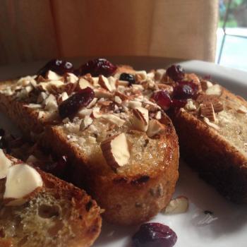 Pura vida Llajta Bread first slice