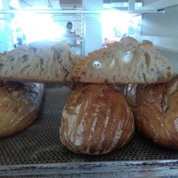 Roasted buckwheat Bread first slice