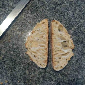 Roasted buckwheat Bread second slice