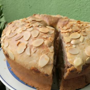 Sally Almond cinnamon sourdough cake first overview