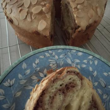 Sally Almond cinnamon sourdough cake second overview