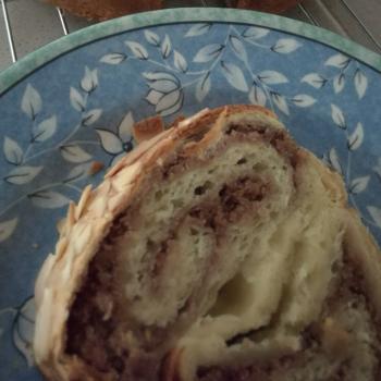Sally Almond cinnamon sourdough cake first slice