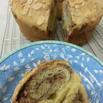 Sally Almond cinnamon sourdough cake second slice