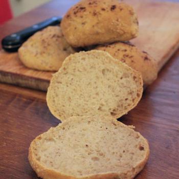 September starter Sourdough buns second overview