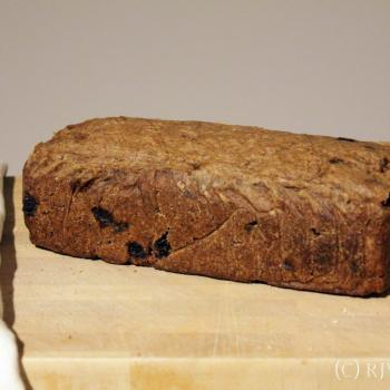 September starter Sourdough rye loaf first overview