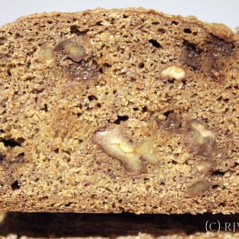 September starter Sourdough rye loaf first slice