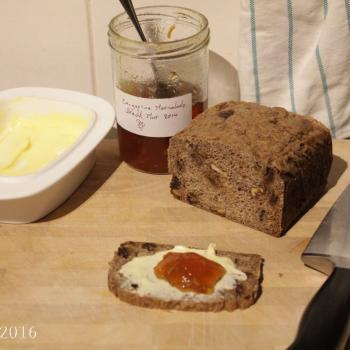 September starter Sourdough rye loaf second slice
