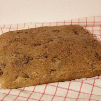 September starter Sourdough walnut flatbread first overview