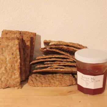 September starter Wholemeal knäckebröd second slice