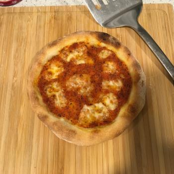 Sophia pizza first slice