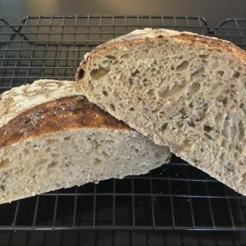Sozzy (S for Sourdough and Ozzy for Aussie)  first slice