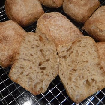 St John's Sourdough Ciabatta first slice