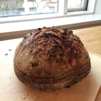 Steingrímur Sunday oatmeal sourdough bread first overview