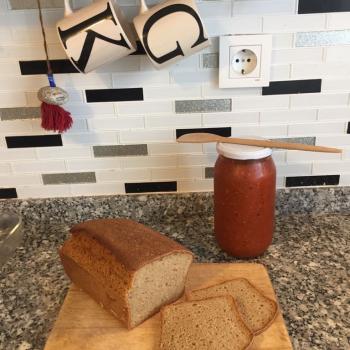Taamekmek Bread first slice