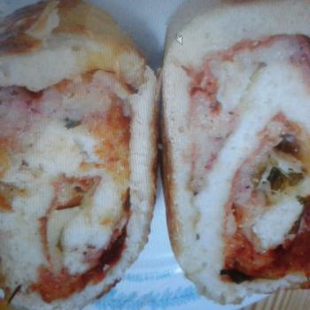 Vrâncioaia bread , pancake , flat bread , pizza , focaccia . second slice